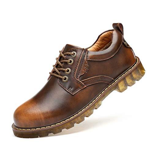 [HIMAWARI] ワークブーツ カジュアルシューズ マーチンシューズ メンズ ローカット 革靴 レースアップ オッ...
