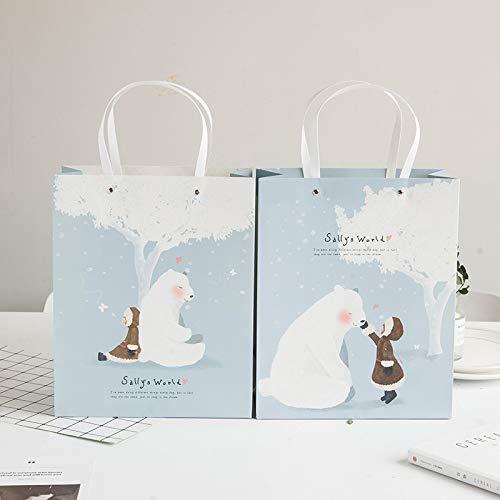 LIUQIAN Ragazza di Moda Stampa & amp; Bear Boutique di Regalo Borsa Abbigliamento deposito per la Borsa Che Paper Bag Set dei Tipi A-Pieces (a)