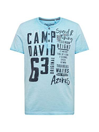 Camp David Herren Shirt dunkelblau XL