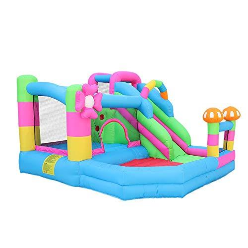 Feixunfan Aufblasbare Hüpfburg Kinder Hüpfburg Kletter Slide Außenhaltungs-Ausrüstung Große Unterhaltung Ausrüstung für drinnen und draußen (Color : Blue, Size : 320x280x198cm)