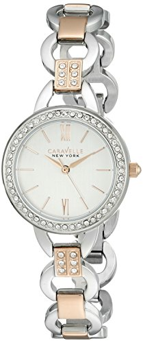 Caravelle New York Women's 45L157 Swarovski Crystal  Two Tone Watch