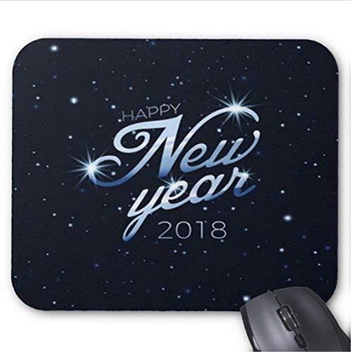 Eleganter hintergrund des guten rutsch ins neue jahr 2018 mit sternen-benutzerdefinierten fotodruck rutschfesten gummi-mauspad