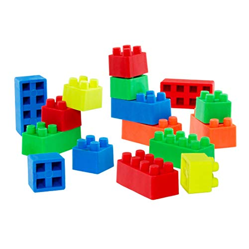1x16tlg. Radiergummiset in Bausteinen-Form - ideal für Büro und Schule - vertrieb durch ABAV