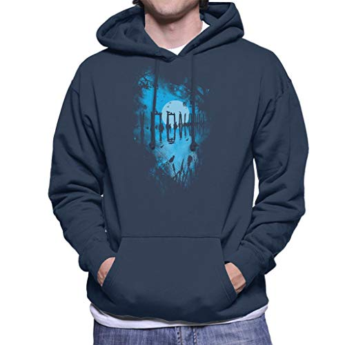 Cloud City 7 Reflection Moonlit Lake Heren Hooded Sweatshirt