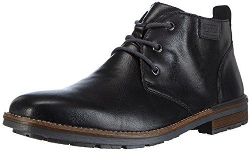 Rieker Herren Schnürstiefelette B1340,Männer Stiefel,Boots,Halbstiefel,Schnürboots,Bootie,flach,schwarz/Granit, EU 43