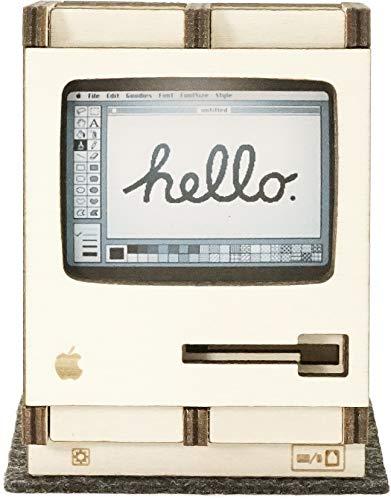 Apple Macintosh Homage Model MAC 128K 3D Puzzle Organizador de escritorio Portabolígrafos Portalapices Rompecabezas