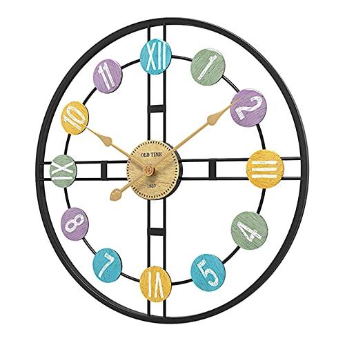 Reloj de pared redondo dorado de gran tamaño para decoración del hogar, relojes de pared silenciosos que no hacen tictac para la sala de estar y la cocina en el hogar, la oficina, el hotel y el rest
