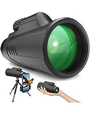 Gafild Telescopio Monocular, 12X42 FMC Prisma Monocular Impermeable y Antivaho Monoculares para avistamiento Aves Caza Camping Concierto con Adaptador de Soporte para Smartphone y trípode