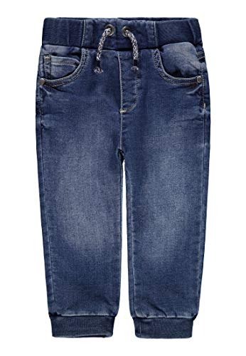 Bellybutton mother nature & me Baby-Jungen Hose Knitted Jeans, Blau (Light Blue Denim|Blue 0014), (Herstellergröße: 62)