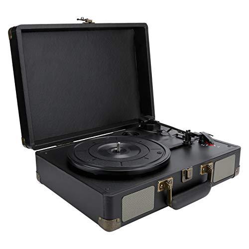 Sutinna Reproductor De Discos De Vinilo, Maleta De 33/45/78 RPM, Tocadiscos PortáTil, Reproductor De Discos De Vinilo Bluetooth Vintage, Altavoces EstéReo Integrados, Regalo Retro(yo)