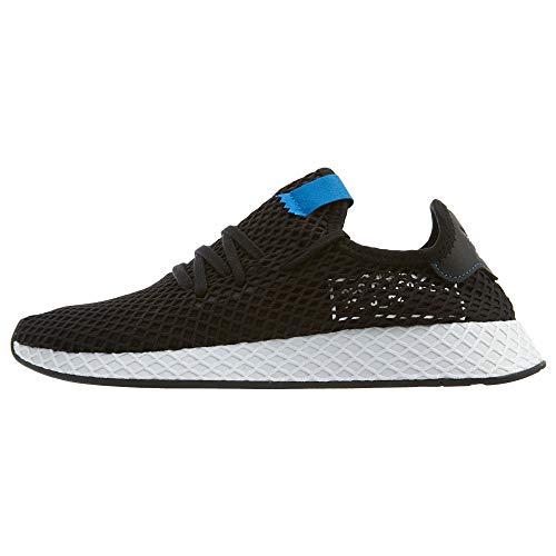 adidas Mens DEERUPT Black/Black/Bluebird - B42063