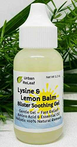 Urban ReLeaf Lysine and Lemon Balm Blister Soothing Gel! for Cold Sores, Fever Blisters, Rashes, Red Bumps, Pox, Raw, Chapped Skin. Help Suppress Outbreaks, Heal Delicate Tissue. Fast Natural Help!