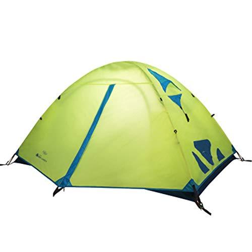 WZP-Tente de Camping 2 Personnes Tente légère étanche Double Couche dôme Tente Camping en Plein air randonnée Tente pour Escalade pêche Survie Festivals Jardin,Jaune