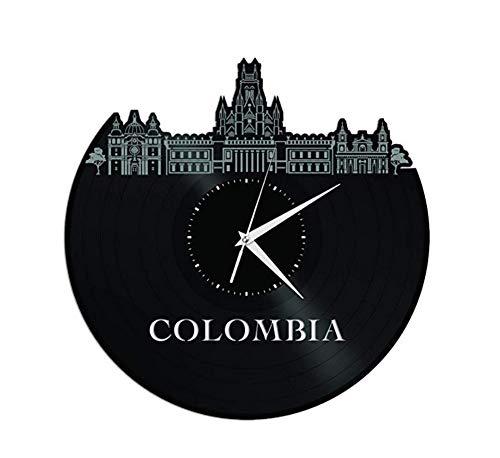 Ayzr Colombia Vinilo Reloj De Pared Skyline Decoración De Oficina En Casa