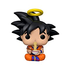 From Dragonball Z, Goku Eating Noodles, Exclusive, as a Pop! vinyl from Funko! Figure stand 3. 75 inches tall and comes in a window box display! Check out the other Dragonball Z figures by Funko, collect them all!