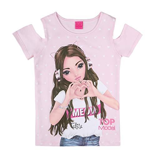 Top Model Mädchen T-Shirt, rosa, Größe 140, 10 Jahre
