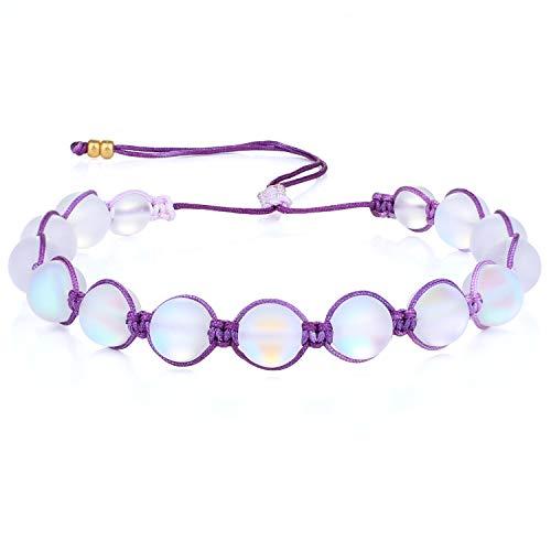 KANYEE Bracelets De Perles Lune Bracelet Rang Coloré Bracelets De Corde Faits à La Main pour Femmes – 23H