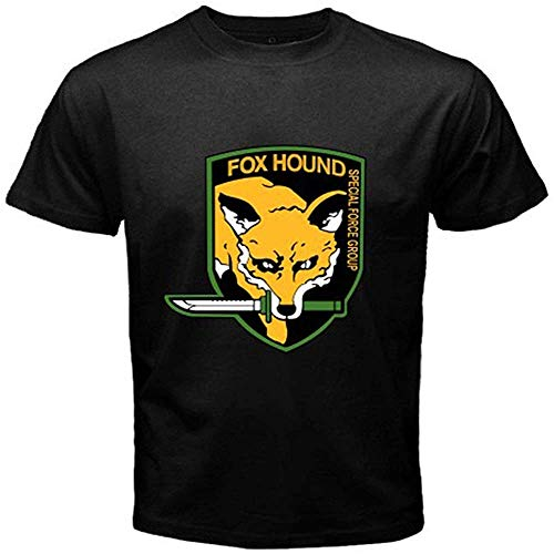 New Foxhound Metal Gear Solid Special Force Group Men's Black T-Shirt Size