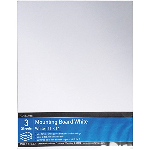 """Crescent #X Mounting Board, Value Pack, 3 Count, 11"""" x 14"""" Size"""