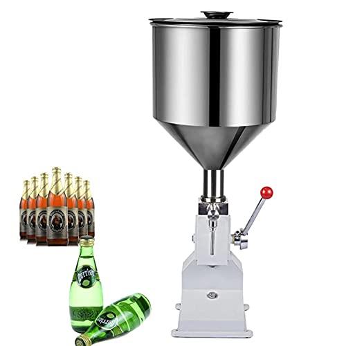 KELUNIS Ajustable Máquina De Llenado De Líquidos Manual, Máquina De Llenado De Botellas con Tolva De 10 Kg De Capacidad, Dispensador De Líquido Comercial para Cerveza Cosmética Miel