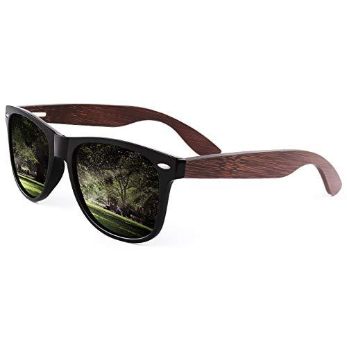 CGID Occhiali da Sole Polarizzati in Legno per Uomo e Donna con Originale UV400 CAT3 M08