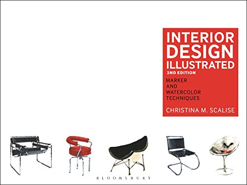 Compare Textbook Prices for Interior Design Illustrated: Marker and Watercolor Techniques 2 Edition ISBN 9781609019174 by Scalise, Christina M.