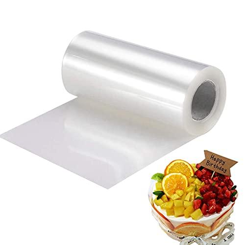 Rotolo di pellicola per torte, 10/15/20 cm x 10 m, acetato, acetato, rotolo per decorazione torte, cioccolato, mousse, anelli dessert, 12 cm