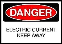 屋外用のパーソナライズされた金属製の看板電流を遠ざける危険な看板、頑丈な金属製の錫の看板アルミニウム製の看板ポスター警告ガレージの家のためのプラークアートの装飾