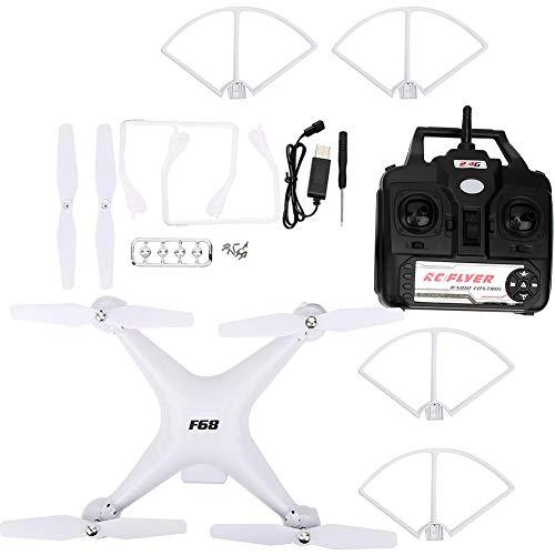 Quadcopter Spielzeug, RC Quadcopter 2000mah Lange Batterie Hubschrauberspielzeug Fernbedienung 1PCS RC Hubschrauber Leben Standardversion RC Drohne, für Erwachsene Kinder(White)