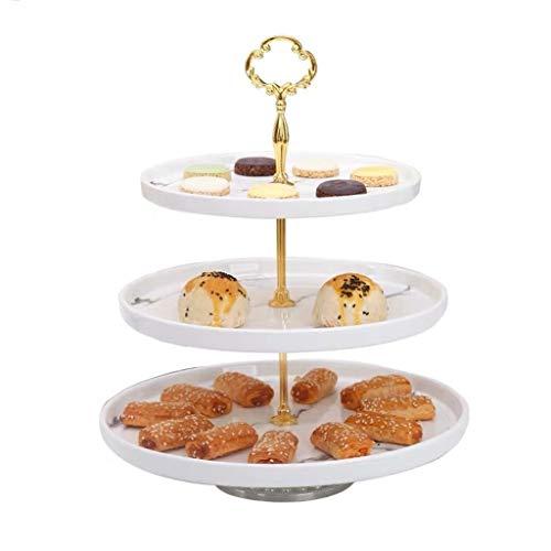 Taorong 3-Tier-Kuchen-Standplatz, Marmor Textur Keramik Dessert Turm Servierplatte-Anzeigen-Halter Runde Porzellan Kuchen-Standplatz for Hochzeit Geburtstag Baby Shower Party