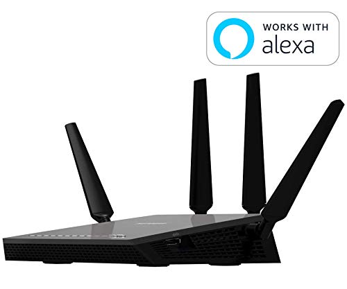 Netgear R7500-200NAS Nighthawk X4 Ultimate Gaming Router - AC2350 4X4 MU-MIMO Dual Band WiFi Gigabit Router (R7500v2) with Open Source Support. Compatible with Amazon Echo/Alexa