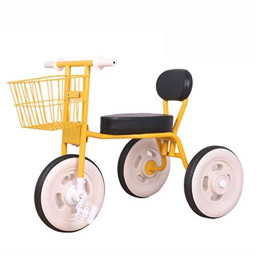 GYF Bicicleta ligera para niños de 1 a 3 a 6 años de edad, bicicleta de juguete para niños, excursión con la bicicleta (color amarillo)
