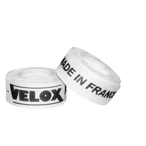 VELOX V520000 Paire de Fond de Jante adhésif Mixte Adulte, Blanc, 19 mm