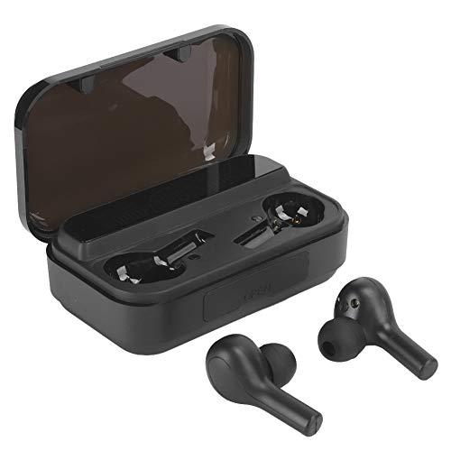 PUSOKEI True Wireless Earbuds, Auriculares Bluetooth 5.0 con Estuche de Carga, Pantalla Digital LED, Huella Digital táctil, Micrófono Integrado, Sonido estéreo Envolvente HiFi 8D para Deportes(Negro)
