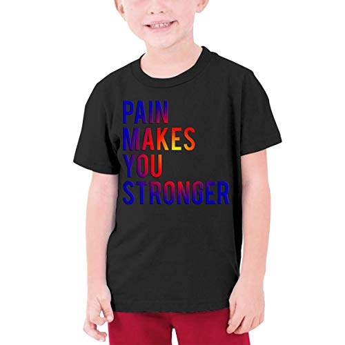 GTGTH Camiseta Adolescente Kids Pain Makes You Stronger T Shirt Youth Boys Girls Casual Cotton tee Summer Clothes