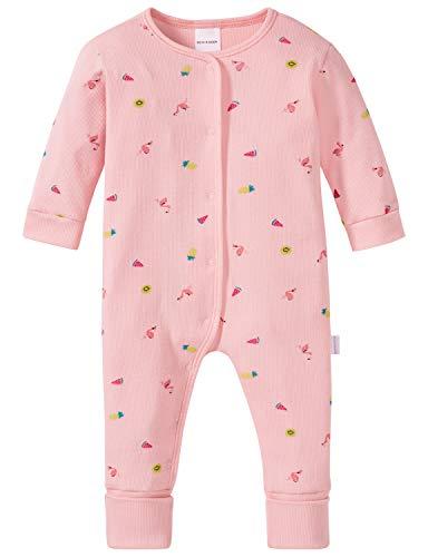 Schiesser Schiesser Mädchen Baby Anzug mit Vario Zweiteiliger Schlafanzug, Rot (Rosé 506), 68 (Herstellergröße: 068)