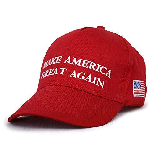 Flantor MAGA Make America Great Again Baseball Cap, 2020 President Election Donald Trump Keep America Great Cotton Baseball Cap (Red)