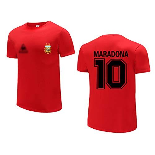 AWJK Herren Trikot #10 Maradona Rugby Trikots American Football Jersey Kurzarm Sport Top T-Shirt Schwarz Label XS