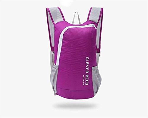 Légère équitation vélo sac à dos grande capacité pliable Casual Sports sac à dos voyage alpinisme trekking Camping Bag Pack 6 couleurs H41 x l 27,5 x t14cm , purple
