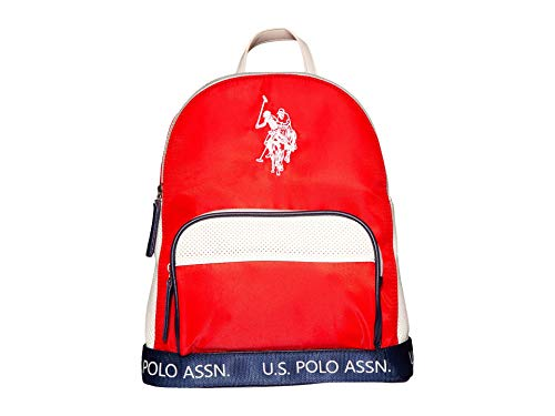 U.S. POLO ASSN. Perforated Nylon Sport Backpack Red One Size