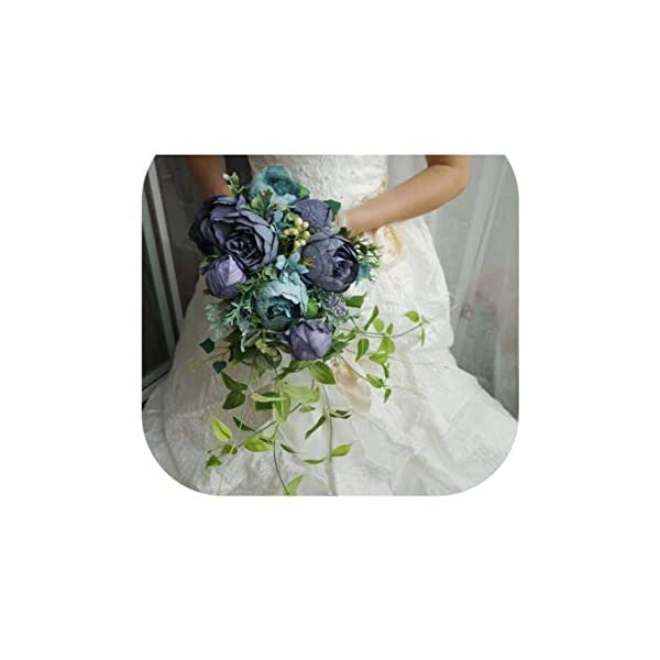 Wedding Bouquets Artificial Bride Flowers Wedding White Water Droplets Waterfall Wedding Flowers Bridal Bouquets