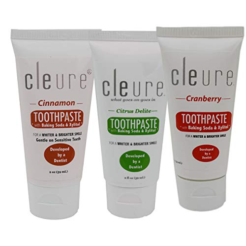 Cleure Hypoallergenic Toothpastes w/Baking Soda & Xylitol -...