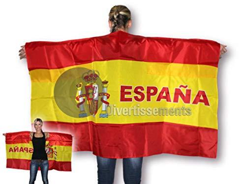 Capa Poncho con la Bandera de España, 90 x 150 cm: Amazon.es: Juguetes y juegos