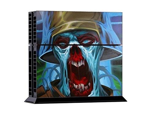 Gaminger Playstation 4 Designfolie Sticker Skin Set für Konsole + 2 Controller – Zombie Trooper