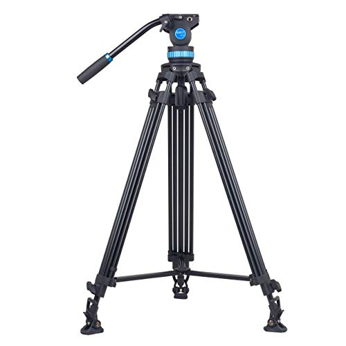 SIRUI SH-25 Broadcast Tripod with Fluid Video Head (Camera Platform and Handle for Tilting and Panning Adjustment)