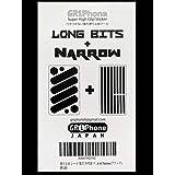 滑り止め シール 強力 多用途 ロングビッツとナロウ セット 選べる3色 GRiPhone Long Bits & Narrow(ブラック)