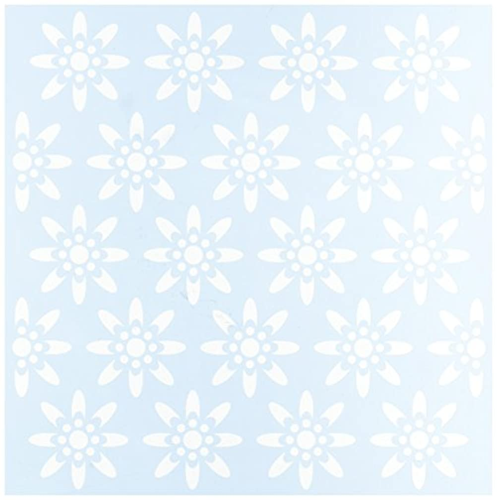 CLEARSNAP Clear Scraps Seamless Floral #1 Stencils, 12 by 12