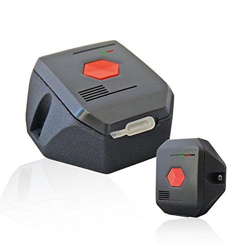 distyNotruf stationär Notfallknopf Alarmknopf Notruftaster für Zuhause - fest montierter Alarmtaster Notfalltaster Hausnotruf für Senioren Notruf bei Unfällen in Notsituationen