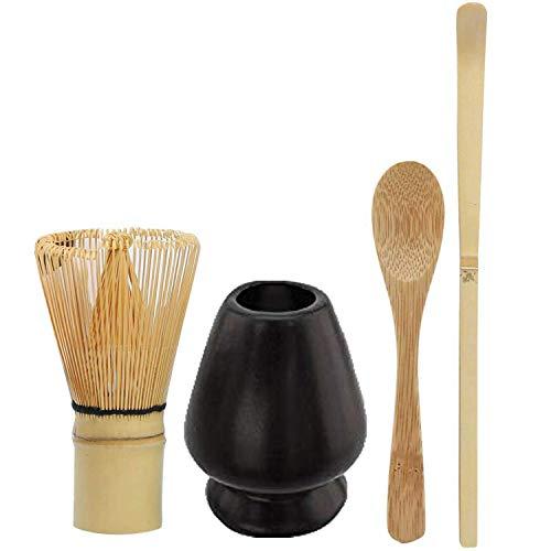Tiamu Juego de Matcha, Kit de te matcha Japonesa 1 * licuadora Matcha 1 * cuchara de bambú 1 * batidor Matcha 1 * cucharadita