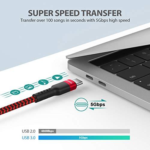 Nimaso USB C auf USB C 3.0 Kabel 2M,USB Typ C 60W 20V/3A Power Delivery Ladekabel USB C Schnellladekabel für iPad Pro 2020,MacBook Pro,Galaxy S20/S10/S21+,Huawei P30,Google Pixel 3a/3,Xiaomi 9